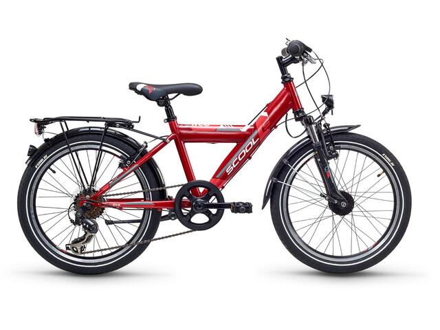 s'cool XYlite 20 7-S - Vélo enfant - steel rouge